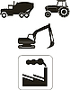 Vector clipart: Building machinery - icons