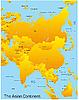 Векторный клипарт: Карта Азии