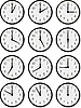 Vector clipart: clock faces