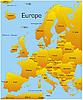 Vektor Cliparts: Landkarte Europas