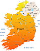 Vector clipart: Ireland map