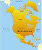 Vektor Cliparts: Nordamerika