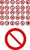 Vektor Cliparts: Verbotene Zeichen