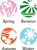 Vector clipart: Seasons