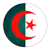 Photo 300 DPI: Algeria button with flag