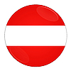Austria button with flag | Stock Illustration