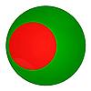 Photo 300 DPI: Bangladesh button with flag
