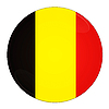 Belgium button with flag | Stock Illustration