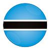 Photo 300 DPI: Botswana button with flag