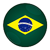 Brazil button with flag | Stock Illustration