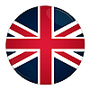 Britain button with flag | Stock Illustration