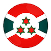 Burundi - icon with flag | Stock Illustration