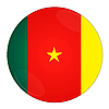 Cameroon button with flag | Stock Illustration