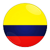 Photo 300 DPI: Colombia button with flag