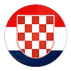Photo 300 DPI: Croatia button with flag