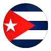 Cuba button with flag | Stock Illustration