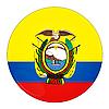 Photo 300 DPI: Ecuador button with flag