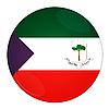 Photo 300 DPI: Equatorial Guinea button with flag