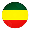 Photo 300 DPI: Ethiopia button with flag