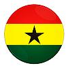 Фото 300 DPI: Гана иконка с флагом