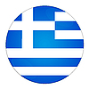 Greece button with flag | Stock Illustration