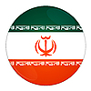 Photo 300 DPI: Iran button with flag