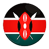 Kenya button with flag | Stock Illustration