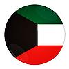 Photo 300 DPI: Kuwait button with flag