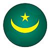 Photo 300 DPI: Mauritania button with flag