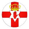 Foto 300 DPI: Nordirland Icon mit Flagge