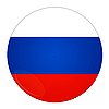 Russia button with flag | Stock Illustration