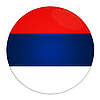 Photo 300 DPI: Serbia button with flag