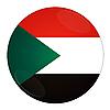 Photo 300 DPI: Sudan button with flag