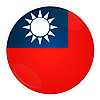 Photo 300 DPI: Taiwan button with flag