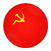 Photo 300 DPI: Ussr button with flag