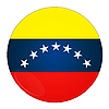 Venezuela button with flag | Stock Illustration