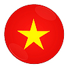 Vietnam button with flag | Stock Illustration