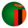 Zambia button with flag | Stock Illustration