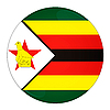 Zimbabwe button with flag | Stock Illustration
