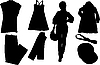 Vector clipart: set of fashion silhouettes