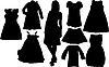 Vector clipart: fashion silhouettes