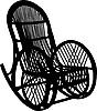 Vector clipart: Armchair-rocking chair