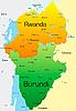 Векторный клипарт: Руанда и Бурунди