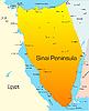 Векторный клипарт: Синайский полуостров