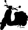 Vektor Cliparts: Moped