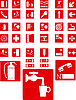 Vektor Cliparts: Red Zeichen