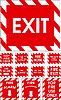 Vektor Cliparts: Rote Zeichen