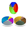 Vector clipart: pie chart diagrams