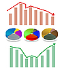 Vector clipart: shiny bar and pie chart