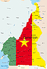 Vector clipart: Cameroon map